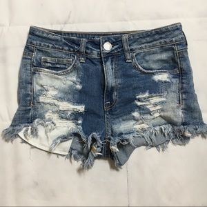American Eagle Distressed Stretch Shorts
